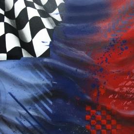 M FLAG CLOSEUP