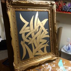 GOLD BLADES / ACRYLIC
